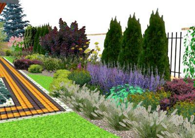 Ogród z tradycyjną altaną