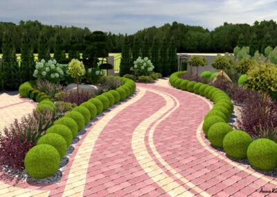 Ogród przed rezydencją
