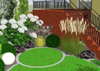 Ogród z sekwencją kół