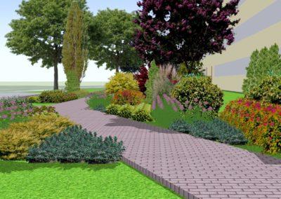 Teren zielony przed szkołą