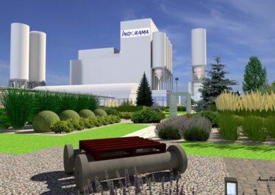 Strefa zieleni na terenie fabrycznym